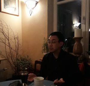 Daniel Libertus beim Liberalen Stammtisch im Antik-Café Wölfersheim